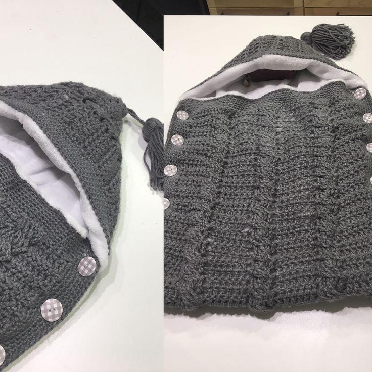 Saco bebe crochet Hugo