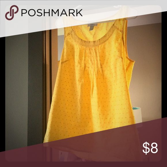 Anne Taylor loft tank top Yellow tank top from Anne Taylor. Tops Tank Tops