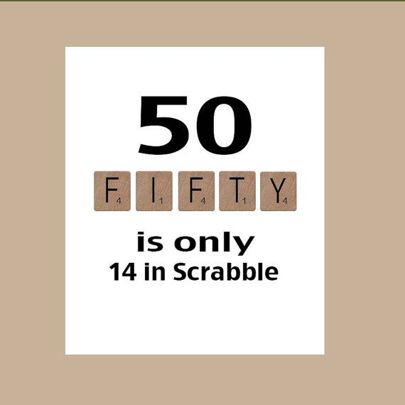 50. Geburtstag Karte, Meilenstein-Geburtstag, Scrabble Geburtstagskarte, der große 50