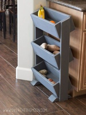 The Homestead Survival | How To Build A Kitchen Produce Stand Rack | http://thehomesteadsurvival.com