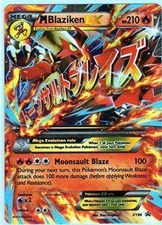 Jumbo Mega/M Blaziken EX Pokemon Card (Promo #XY-86) Oversized 6 x 8-Inch