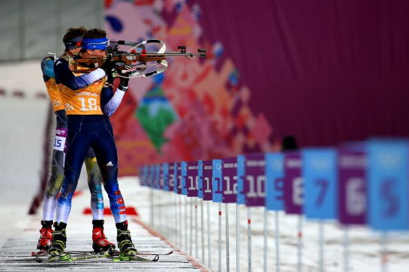Sean Doherty of the United States competes during the Men's 4 x 7.5 km Relay (c) Getty Images
