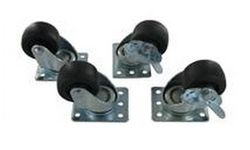 Direct Connect Rack Casters with Brakes