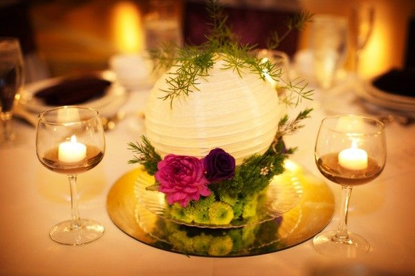 paper lantern centerpieces flowers - Google Search