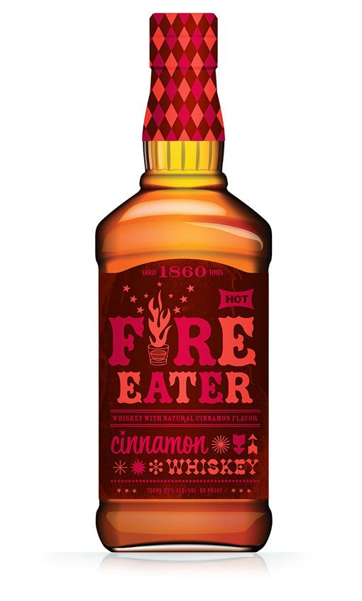 packaging design | early times hot cinnamon whiskey packaging exploration