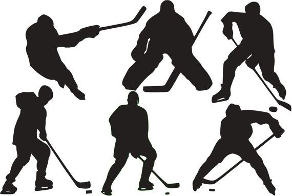 Set of 6 Hockey Players - Vinyl Wall Decal on Etsy, $22.95