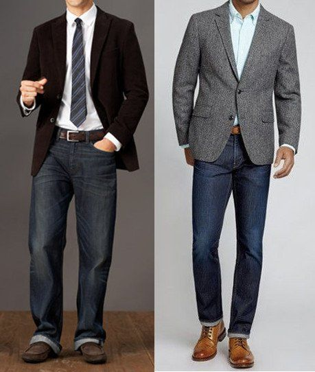 The right & wrong way to wear sports coat with jeans - avoid the business mullet