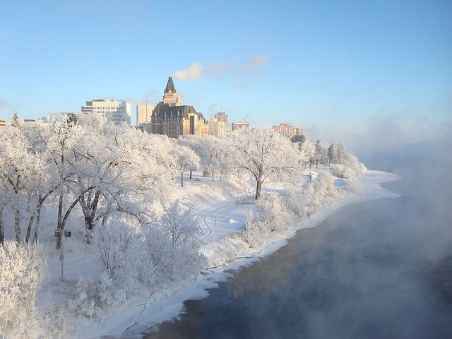 Saskatoon in winter! Even when it's (very very very) cold, it's still beautiful!