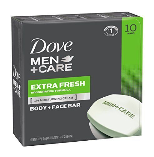 Dove Men + Care Extra Fresh Body and Face Bar, 4 Ounce,10 Count