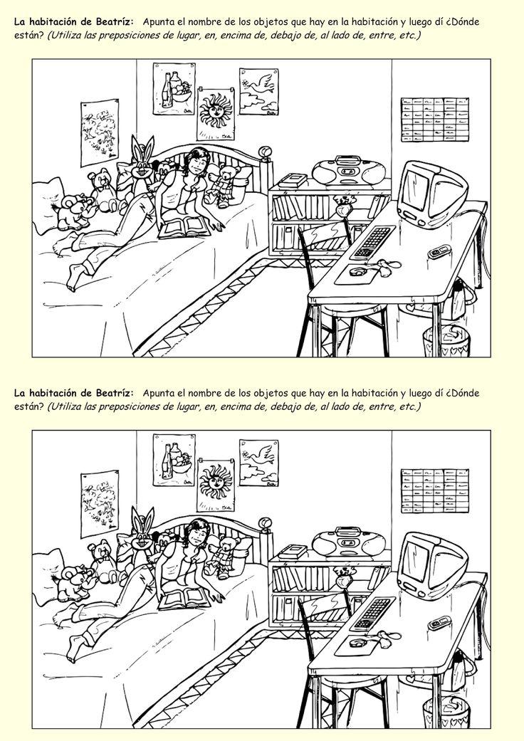 Me encanta escribir en español: ¿Qué hay en la habitación (el cuarto)?