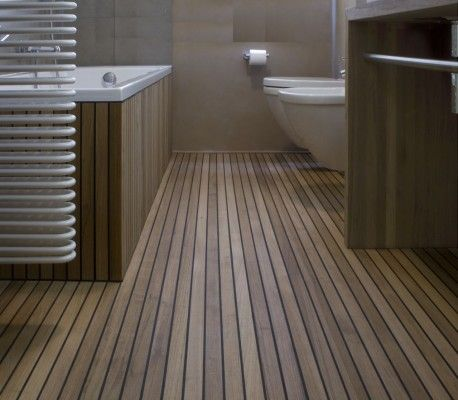 Teak Floor bathroom