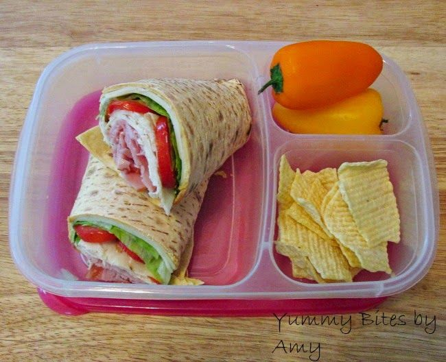 Lunch for mom! Chicken wrap packed for lunch | with @EasyLunchboxes containers