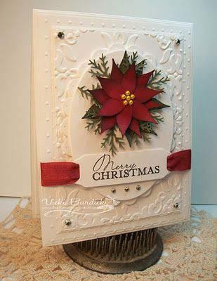 Another version of the Poinsettia card