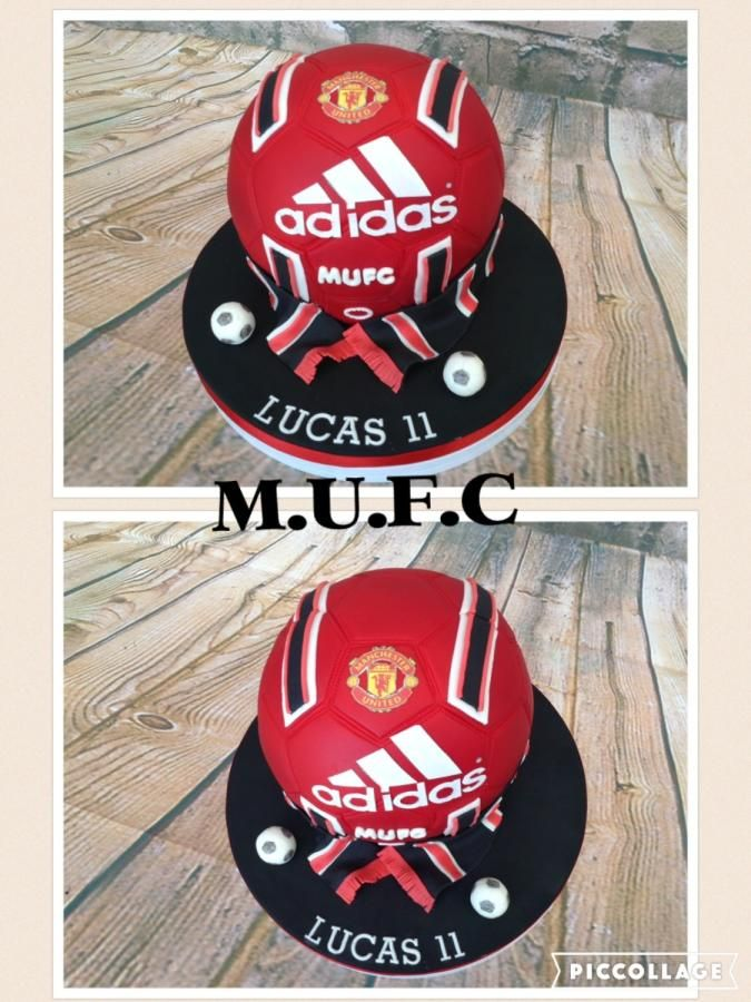 MAN UTD FC FOOTBALL shaped cake - Cake by Cake-D-Licious