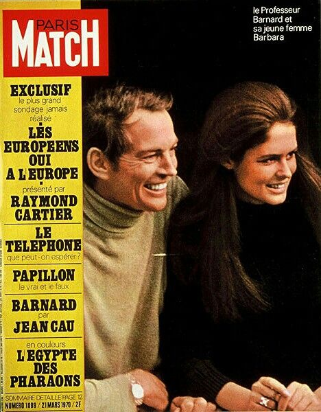 On the cover of Paris Match - Prof Christiaan Barnard and Barbara