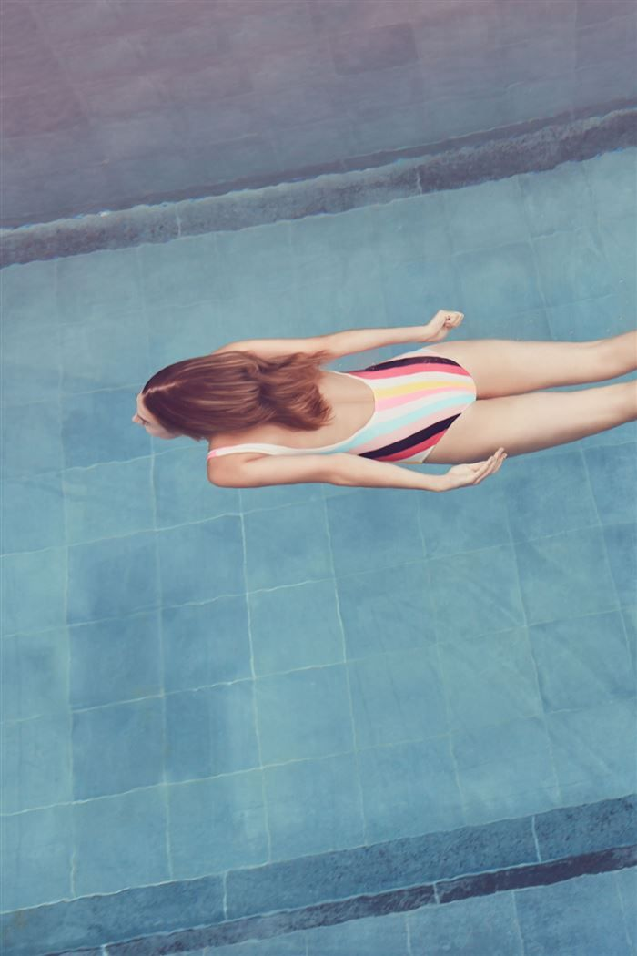 Everything But Water: solid and striped one piece