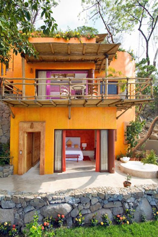 Far From Simple Sprawling Mexican Villa Tropical Houses House Home