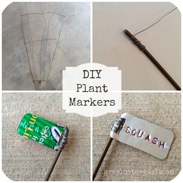 DIY Plant Garden Marker Tutorial