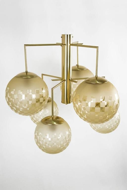 Pair of Contemporary Six-Arm Italian Chandeliers 2