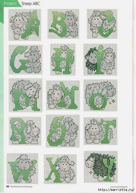 Schaapjes alfabet - deel 1