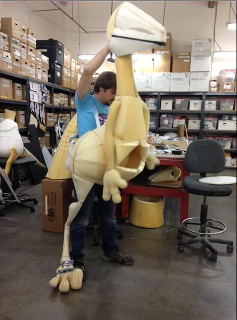 Dinosaur Puppet in construction for the Dinosaur Train Live show. http://www.dinosaurtrainlive.com/index.html