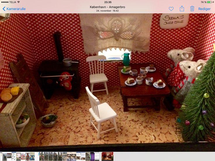 Jule stue lavet af gammel kasse