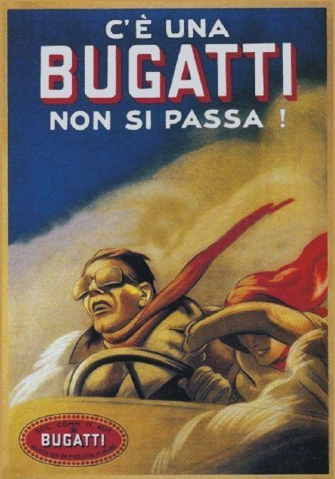 """TARGA VINTAGE """"AUTO BUGATTI"""" PUBBLICITA', ADVERTISING, POSTER, ART RETRO, PLATE"""