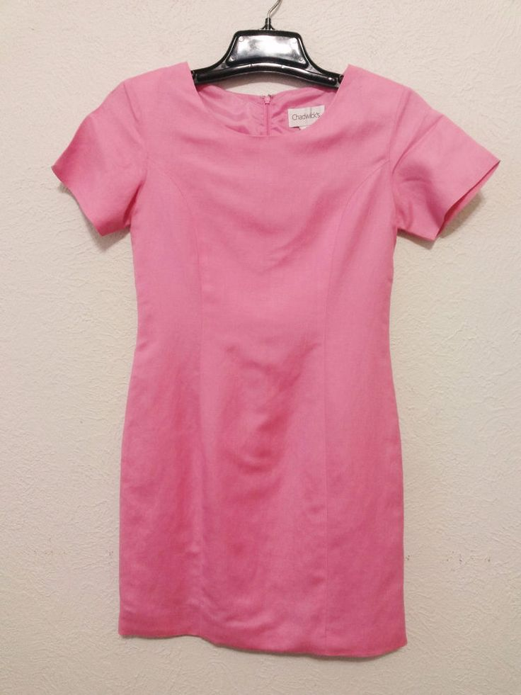 Chadwick's - Women's Dress - Size 4P - Pink Lined Sheath Short Sleeve Career Dress #Chadwicks #Sheath #Career ..... Visit all of our online locations.....  www.stores.eBay.com/variety-on-a-budget .....  www.amazon.com/shops/Variety-on-a-Budget .....  www.etsy.com/shop/VarietyonaBudget .....  www.bonanza.com/booths/VarietyonaBudget .....  www.facebook.com/VarietyonaBudgetOnlineShopping