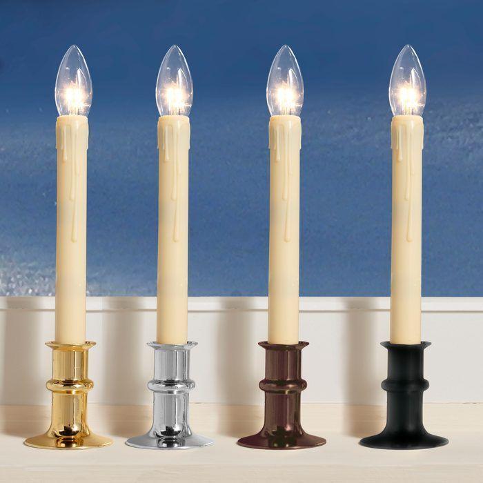 Streetside Brightness™ Adjustable-Height Cordless LED Window Candles #ledchristmascandles