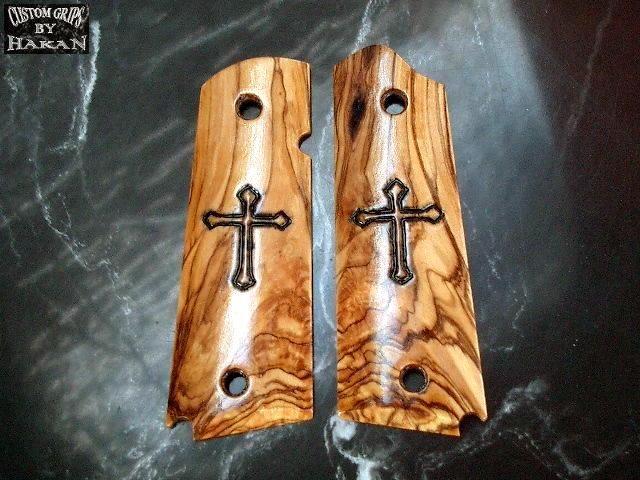 "Bethlehem Olivewood ""Cross"" grips."