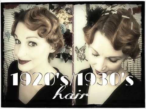 Faux Finger Waving- 1920's/1930's Hair Tutorial - YouTube