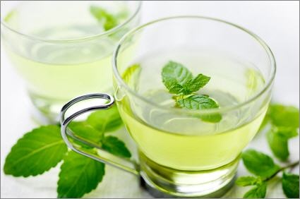 Peppermint tea - soothes a stuffy nose and sore throat.