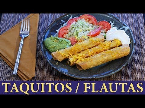 (1538) You asked for it: How to make Flautas / Taquitos - YouTube