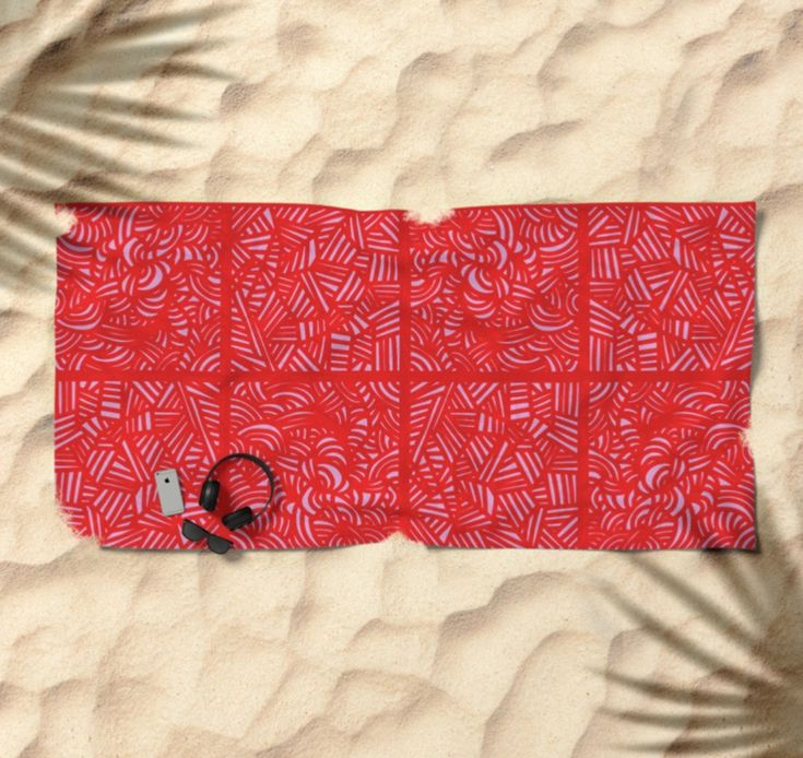 #beach tower by María caballer on @society6 #towel #design #pattern