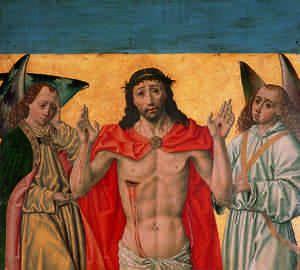 Museo de la Colegiata. Cristo Resucitado. Pintura de Diego de la Cruz , estrecho colaborador de Gil de Siloé**