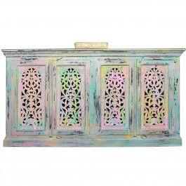 Hand Carved Jali Multicolour Sideboard