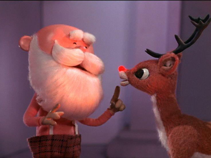"""Christmas Classics - Rudolph and Santa. """"No one wants to see a """"skinny"""" Santa. Eat! Eat Papa Eat!"""""""