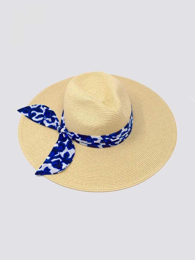 4e21d54bec476 Indigo Vine Trim Straw Hat  FITS runs Import