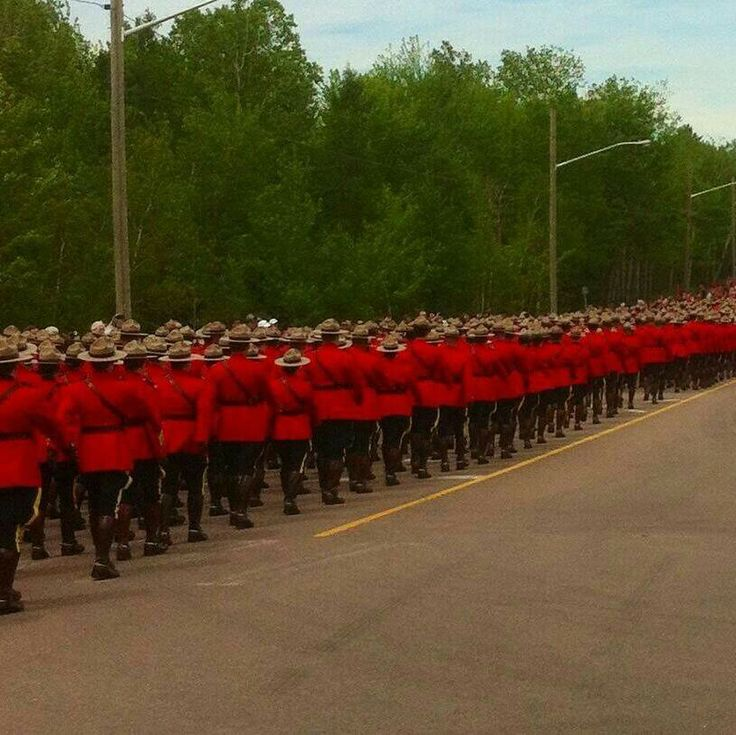 RCMP march to the funeral