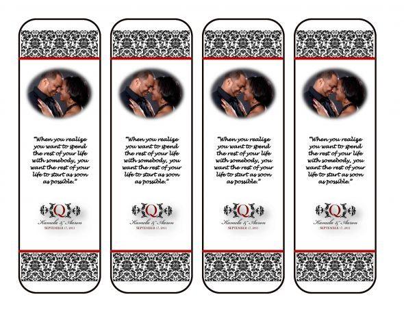Wedding Bookmarks Favors Diy | Bookmark Wedding Favors | Pinterest ...