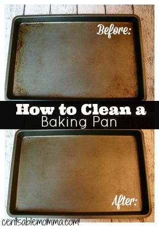 Restore your cookie and baking sheets to looking almost new with just a few ingredients you probably already have!