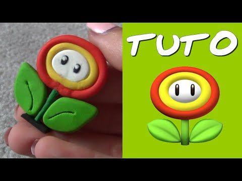 TUTO FIMO | Fleur de feu (de Mario) Fire Flower polymer clay tutorial
