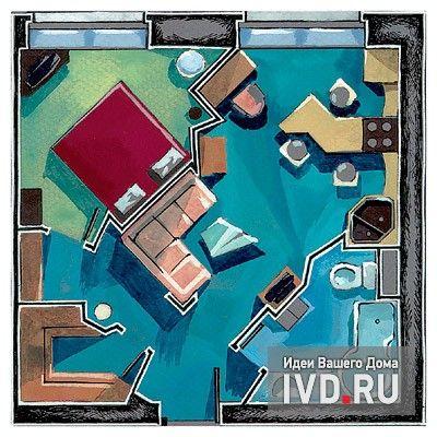 Кухня-гостиная по диагонали http://www.ivd.ru/document.xgi?id=4303