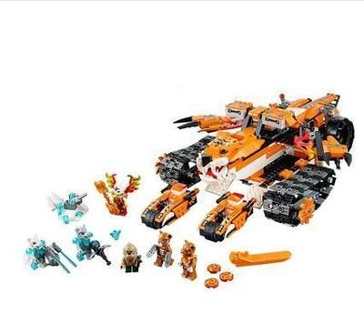 (36.08$)  Know more - http://aiphq.worlditems.win/all/product.php?id=32602816877 - Hero legend Lepin God tiger tribe's little super tank base puzzle assembled building poni children birthday gift lepin