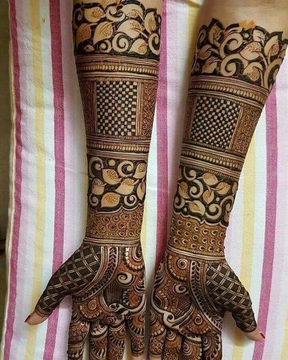 awesome latest dulhan mehndi design for hands #mehndi #mehndidesign #henna #hennadesign #mehndidesignforhand #indianmehndidesign