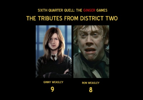 Games - What if the Sixth Quarter Quell tributes were all gingersQuarter Quell Tributes