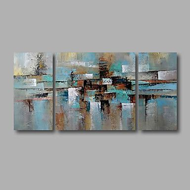 Stretched+(Ready+to+hang)+Hand-Painted+Oil+Painting+120cmx60cm+Canvas+Wall+Art+Modern+Blue+Grey+–+AUD+$+117.36