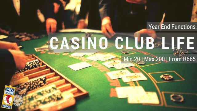 Casino Club Life  Enjoy the thrill of breaking the bank, become a paper billionaire or lose a fortune. Either way we will make sure you are having the time of your life at this Cape Town Club, perfectly suited for a private Casino event including canape dinner. Min 20 | Max 200