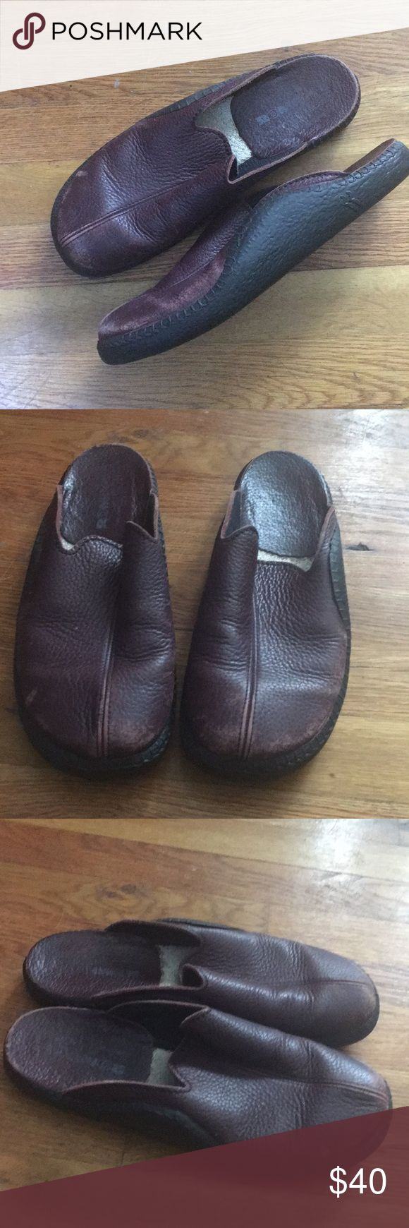 Romika slippers Leather mules or slippers with leather lining. Super lightweight and comfortable. I think a woman or man could wear these. They are very well made Romika Shoes Mules & Clogs