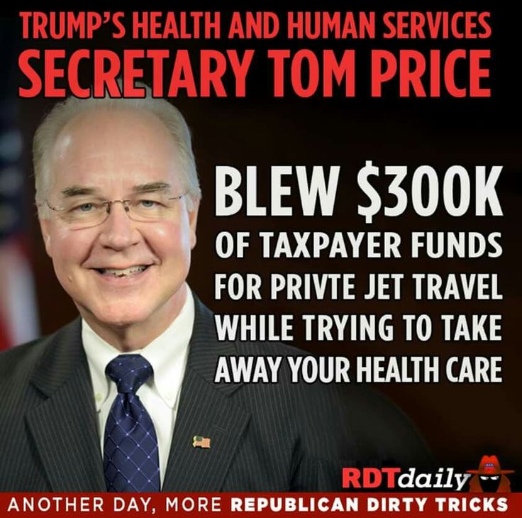 Tom Price, appointed by Trump TrumPutin in the Whitehouse